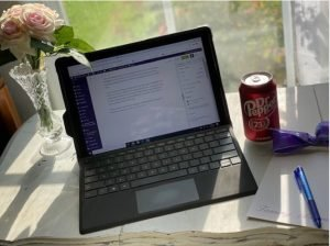 Dr. Pepper is a better choice for me than coffee! BTW, love that West sun!